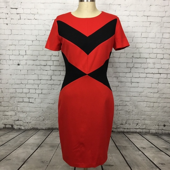 daea17e223f4 Vince Camuto Size 6 Dress Color Block Chevron. M 5a557b9046aa7cd59b07862b